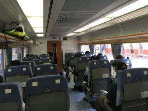 Y157記念列車の旅 485系車両 車内風景