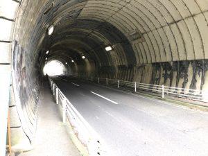 神武寺トンネル 車両通行止 工事前