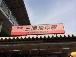 三浦海岸駅 河津桜バージョン