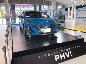 新型プリウスphv 画像 展示車