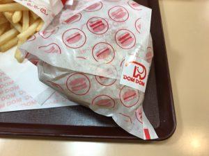 ドムドムバーガー ハンバーガー 包み紙