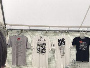 MR.BIG 2017年武道館公演 グッズ 売り場 Tシャツ2