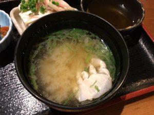小田原 ふわり 味噌汁