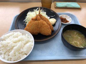 西湘バイパス サービスエリア アジフライ定食