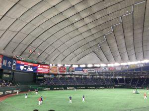 日米野球2018の練習風景1
