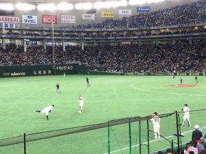 日米野球2018の練習風景5