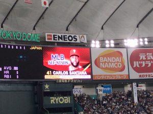 日米野球2018 カルロス・サンタナ