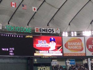 日米野球2018 エンリケ・ヘルナンデス