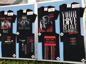 ボンジョヴィの2018年来日グッズ サンプル Tシャツ1