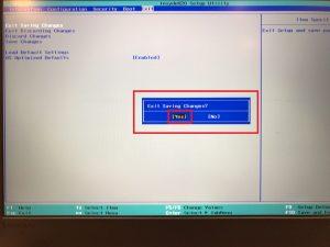 レノボのファンクションキー設定の切り替え方法 その2 BIOS exit画面 002