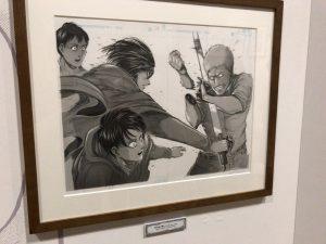進撃の巨人展FINAL後期 ミカサ・アッカーマン 原画展示05